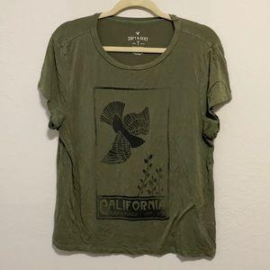 American Eagle Soft & Sexy Santa Monica Dove Shirt